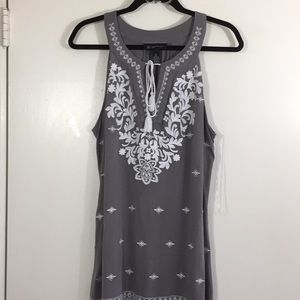INC INTERNATIONAL CONCEPTS Embroidered Top- Size2X